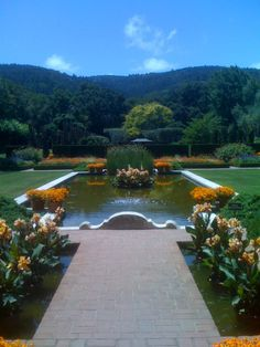 """Gardens of Filoli - Remember this pool from the """"cat fight"""" on Dynasty?"""