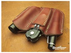 EDC Pocket organizer leather sheath EDC2 by BushgearLeatherworks