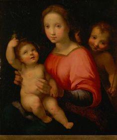 Francesco Vanni  - Madonna col Bambino e San Giovanni - fine del 16 ° secolo / inizi del 17 ° secolo?- olio su pannello - Kunsthistorisches Museum, Vienna