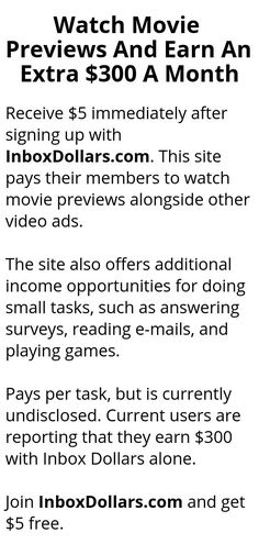 Watch Movie Previews And Earn An Extra $300 A Month - Wisdom Lives Here