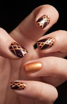 Nailpolis Museum of Nail Art | Medieval Geometry by Chasing Shadows