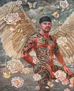 "Delmas Howe  ""Angel of the Butte"", 2005 Oil on canvas 50"" x 38"" Collection of Leslie/Lohman Foundation Gift"
