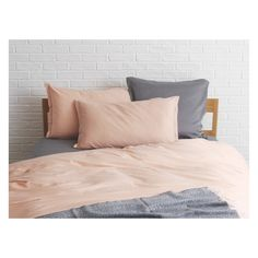 WASHED SATEEN Pink double duvet cover | Buy now at Habitat UK