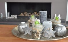 dienblad met hyacinten