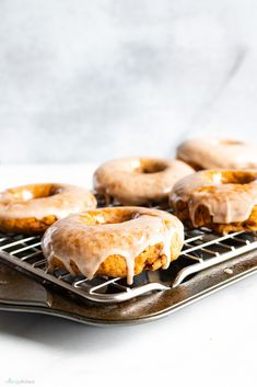 Baked Pumpkin Donuts with Maple Cinnamon Glaze · Allergylicious Vegan Pumpkin, Baked Pumpkin, Pumpkin Recipes, Vegan Donut Recipe, Recipe Recipe, Fall Breakfast, Pumpkin Breakfast, So Delicious Coconut Milk, Recipe Creator
