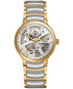 f1301bd6a290 Rado Men s Swiss Automatic Centrix Two-Tone Pvd Stainless Steel Bracelet  Watch 38mm Relojes