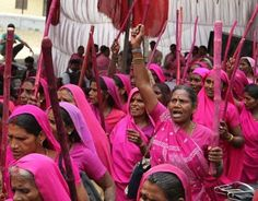 INDIA'S PINK #WOMEN VIGILANTES: Clad in electric pink saris, the all-female gang shames abusive husbands and corrupt politicians.....Daily Beast talks to the woman behind the largest women's vigilante group in the world. via @alishkav
