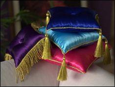 India Bead Sari Throw Pillows Indian Moroccan Themed