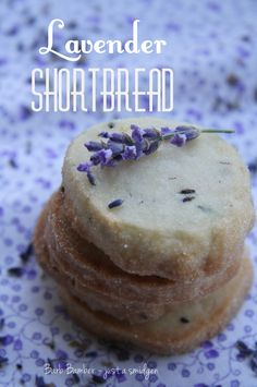 Lavender Shortbread {recipe} so elegant,  tea party perhaps?
