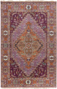 Ancient designs, rich color palettes and quality craftsmanship combine to create the radiant rugs of the Zeus Collection by Surya. Hand Knotted in India, each rug is a masterpiece of traditional style, with intricate patterns and an antique finish...
