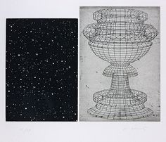 "Vija Celmins, 1983, ""Constellation-Uchello"", aquatint and etching"