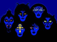 All Makeup Era Members: [Top Row; L-R] Gene Simmons, Eric Carr, Ace Frehley, Peter Criss. [Bottom Row; L-R] Vinnie Vincent, Paul Stanley