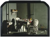 Mrs. Jenkins' Late Night Dinner in Her Room, Alone by David Roller Wilson - one of my favorite paintings. It used to be at the Harry Ransom Center on the UT Austin campus but I think it's now at The Blanton. I love the photo realism and the sense of story. So much gorgeous, realistic detail when you see it in person.