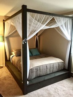 Elegant Canopy Beds Ideas For Romantic Bedroom. If you are looking for Canopy Beds Ideas For Romantic Bedroom, You come to the right place. Canopy Bedroom, Home Decor Bedroom, Bedroom Furniture, Canopy Beds, Diy Bedroom, Bedroom Ideas, Bed Ideas, Diy Canopy, Decor Ideas