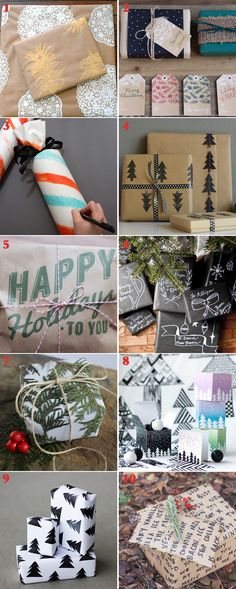 DIY gift wrap ideas