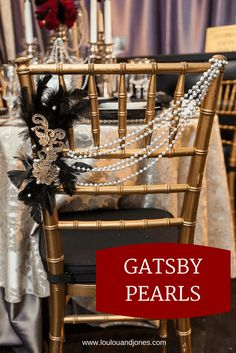 Great Gatsby 20s Pearls -- Pearl spray paint with cheap beaded necklaces