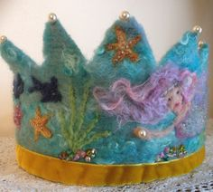 Turquoise Mermaid Waldorf Crown on Etsy, $120.00