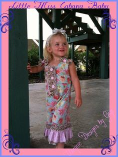 Girls floral longall romper Garden Party by UniqueDesignsbyGigi, $35.00