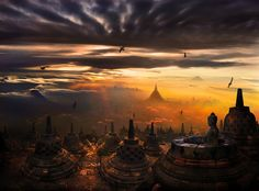 Borobudur, Indonesia - maybe the world's oldest Buddhist temple. Photo by Khun Weerapong Chaipuck.