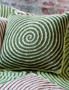 Vortex Afghan & Pillows - Patterns | Yarnspirations