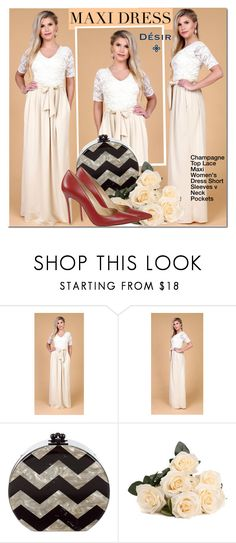 Designer Clothes, Shoes & Bags for Women Dress For Short Women, Short Sleeve Dresses, Dresses With Sleeves, Short Neck, Champagne Dress, Lace Maxi, Women Sleeve, Bridesmaid Dresses, Wedding Dresses
