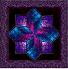 beautiful!   This quilt just glows - I almost looked for a power cord! 3d Quilts, Bargello Quilts, Amish Quilts, Scrappy Quilts, Star Quilts, Applique Quilts, Batik Quilts, Lone Star Quilt Pattern, Star Quilt Patterns