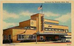 Akron Ohio OH 1950 Greyhound Bus Terminal Collectible Vintage Linen Postcard Akron Ohio OH 1950 Greyhound Bus Terminal. Unused Curteich collectible antique vintage linen postcard in very good conditio Akron Ohio, Cincinnati, Cleveland, Ohio Usa, Vintage Menu, Vintage Postcards, Vintage Linen, Alliance Ohio, Cuyahoga Falls