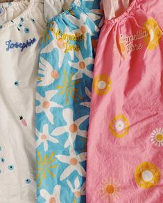 Personalized Chainstitch Monograms on 100% Cotton Nightgowns from La Paloma