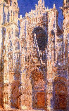 Клод Моне - Rouen Cathedral, the Portal in the Sun, 1894. Клод Оскар Моне