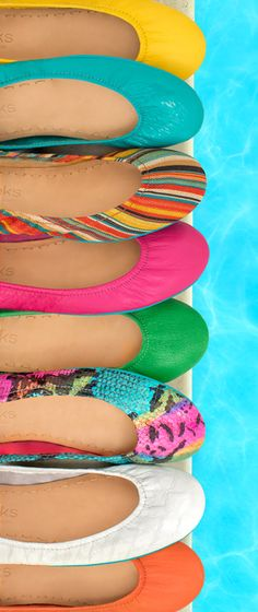 Bright done right! See how Tieks Girls are styling brights and shop our summer hues.
