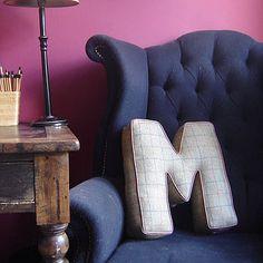 Tweed Letter Cushion  by Jonny's Sister  £65