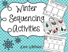 Scaffold the skill of retelling and sequencing using sequence picture cards in a fun winter theme!
