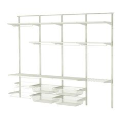 ALGOT Wall upright/rod/shoe organizer - IKEA- opt remove shoe shelves for pants shelf. use higher hanging options and add another row of wire baskets. Closet Ikea, Closet Storage, Bedroom Storage, Closet Organization, Closet Shelving, Ikea Storage, Ikea Algot, Shoe Organizer Ikea, Shoe Organiser