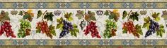 grapes wallpaper border 634 x 188