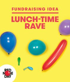 The sort of thing you can really only do on Red Nose Day. Book a room, sell tickets, pump out the tunes and let off some steam in your lunch hour. Big fish, little fish, cardboard box! Get your free fundraising kit from our website and get ravin'!