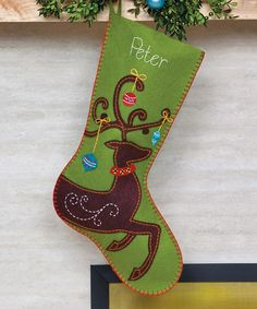 Take a look at this Ornate Deer Stocking by Dimensions Needlecrafts on #zulily…