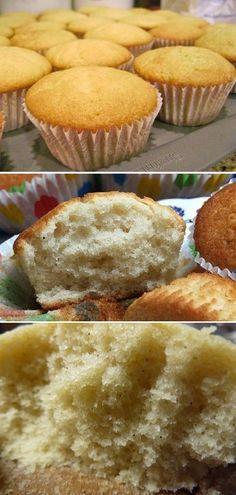 Receita de massa de cupcake de baunilha (não amanteigada) Ingredientes: 3 ovos grandes 1 colher (sopa) de fermento em pó 2 xícaras (chá) de farinha de trigo 1 colher (sopa) de essência de baunilha 1 e 1/2 xícaras (chá) de açúcar 1/2 xícara (chá) de (chá) de leite 1 xícara (chá) de óleo