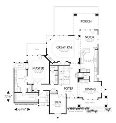 Traditional Tudor House Plan 97754 | Traditional, House plans and ...