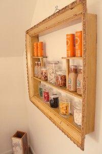 frame shelf. nice to put your spice jars on!