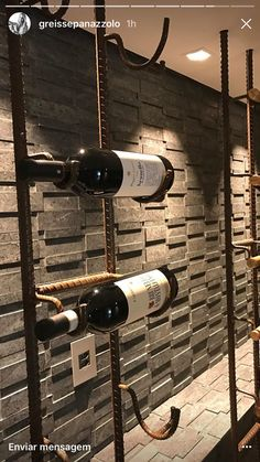 Things That You Need To Know When It Comes To Industrial Decorating You can use home interior design in your home. Wine Bottle Display, Wine Glass Holder, Wine Bottle Holders, Wine Cellar Racks, Wine Rack Wall, Wine Shelves, Wine Storage, Canto Bar, Home Wine Cellars
