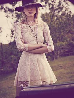 Free People Lacey Affair Dress, $128.00; want this for my honeymoon cruise:) go on sale please!