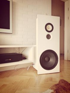 Lampizator Endorphin p17 style speaker. Dipole with bass-unit, widebander and tweeter.