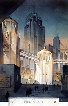 from the city by Thomas W Schaller Watercolor ~ 30 inches x 20 inches