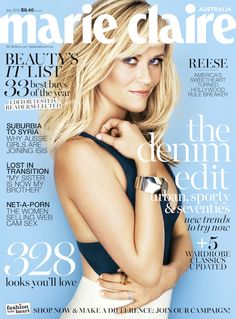 Reese Witherspoon for cover of Marie Claire Australia July 2015