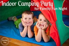 Next time you need something super easy to entertain the kids for family fun night have an indoor camping party.  This is so easy to do and the kids LOVE it!  Now of course, I would prefer if every family actually went camping, but I know their are plenty of people that it is just …