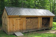 Ideas about Shed: Wood Shed Firewood Shed, Firewood Storage, Backyard Projects, Outdoor Projects, Wood Storage Sheds, Wood Store, Barns Sheds, Lean To, Garden In The Woods