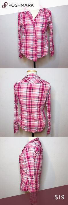I just added this listing on Poshmark: Levi's Pink Plaid Button Up Blouse. #shopmycloset #poshmark #fashion #shopping #style #forsale #Levi's #Tops