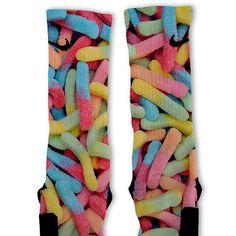 Gummy Worms Fast Shipping Nike Elite Socks by FreshElites on Etsy