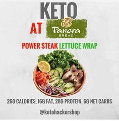Keto at Panera Bread. Keto tips and tricks. Keto Foods, Keto Recipes, Healthy Recipes, Ketogenic Recipes, Keto Snacks, Keto Desserts, Copycat Recipes, Lunch Recipes, Healthy Foods