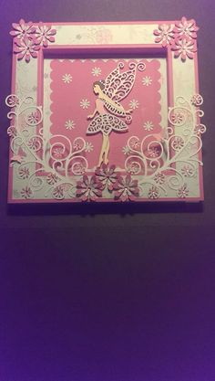Tattered Lace fairy dies by Sarah Ginters Tattered Lace Cards, Fairy Crafts, Die Cut Cards, Card Wallet, Fairies, Card Ideas, Birthday Cards, Unicorn, Christmas Cards